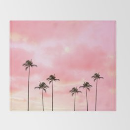 Palm Trees Photography | Hot Pink Sunset Decke