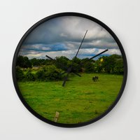 farm Wall Clocks featuring Farm by Ashley Hirst Photography