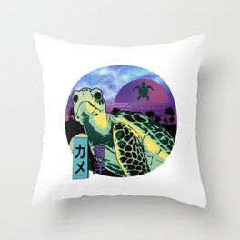 Cool Turtle Island Sunset Throw Pillow