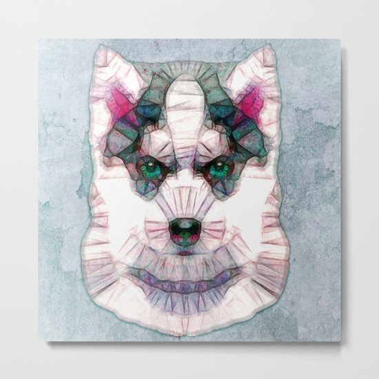 abstract husky puppy Metal Print