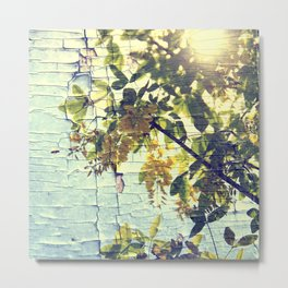 Busy Bee and Locust Tree Metal Print