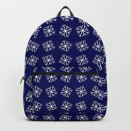 snowflake 12 For Christmas - blue Backpack
