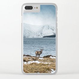 Scottish Stag Clear iPhone Case