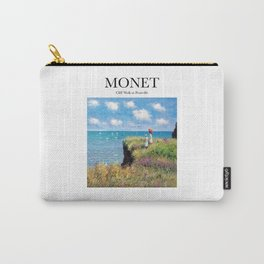 Monet - Cliff Walk at Pourville Carry-All Pouch