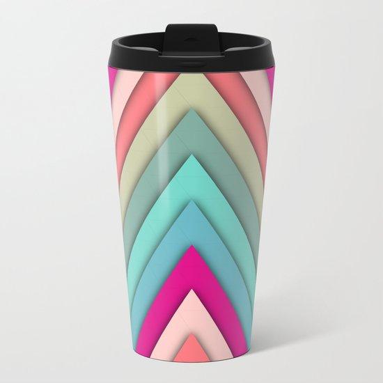 triangles pop Metal Travel Mug