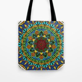 Circle of Life Mandala full color Tote Bag