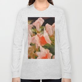 Flower Abstract Pink and Peach Snapdragons  Long Sleeve T-shirt