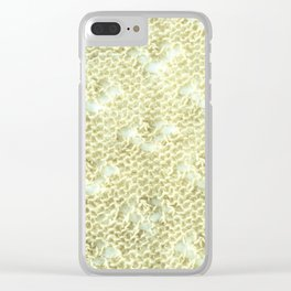 Lace knitting detail Clear iPhone Case