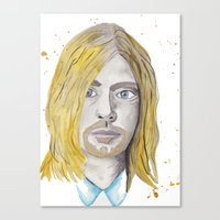 kurt rahn Canvas Prints featuring Kurt by ElmStStudio