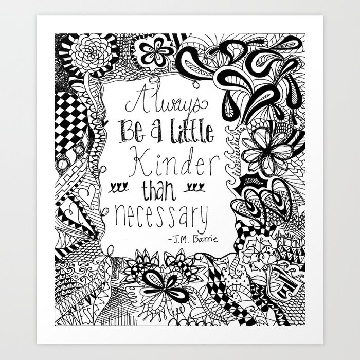 J.M. Barrie Quote Art Print