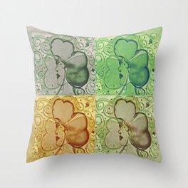 Four Lucky Ladies Pop Art Design Throw Pillow