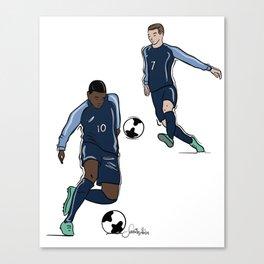 Fifa World Cup Champions Mbappé & Griezmann France Canvas Print