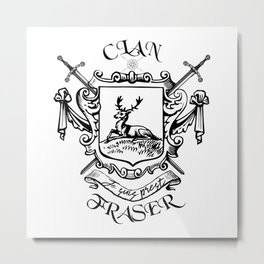 COAT OF ARTMS CLAN FRASER Metal Print