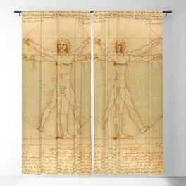 Leonardo da Vinci - Vitruvian Man Blackout Curtain