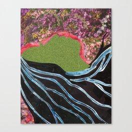Black Hair Lady Canvas Print