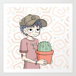 Cactus Gal Art Print
