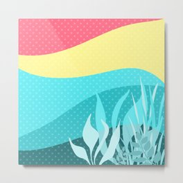 Abstraction . Summer . Metal Print