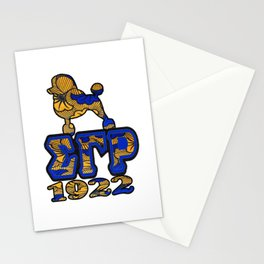Sigma Gamma Rho African Print with Poodle and 1922 Stationery Cards