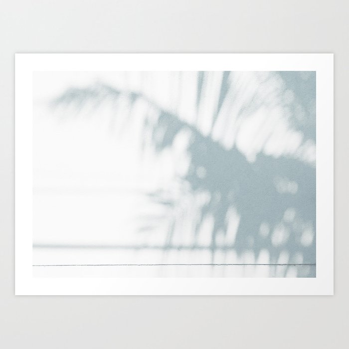 palm shadow Art Print