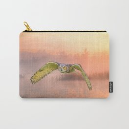 Great Horned Owl Soars Carry-All Pouch