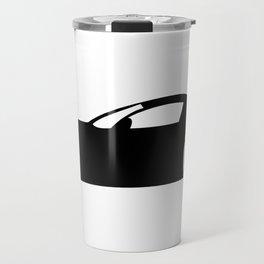Race Car Silhouette Travel Mug