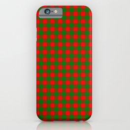 Red and Green Christmas Gingham Tartan iPhone Case