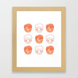 sleepy jongins Framed Art Print