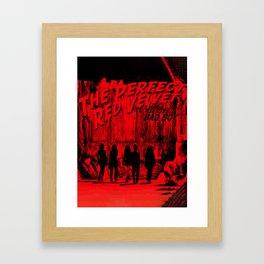 """The Perfect Red Velvet """"Bad Boy"""" Framed Art Print"""