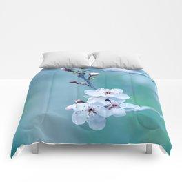 hope springs eternally green Comforters
