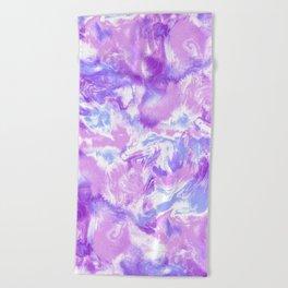 Marble Mist Lilac Beach Towel