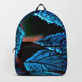 aa267b980b47 Peacock Blue Leaves Nature Background  decor  society6  buyart Backpack
