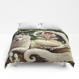 Wolf Princess in the Forest Comforters