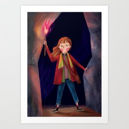 a girl with the power Art Print