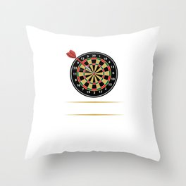 I'd Hit That Dart Board Darts Player Bullseye Throw Pillow