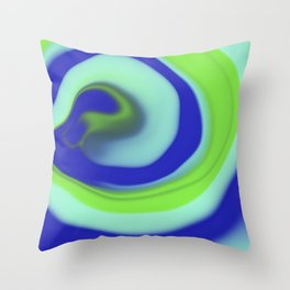 Green blue abstract pattern Throw Pillow