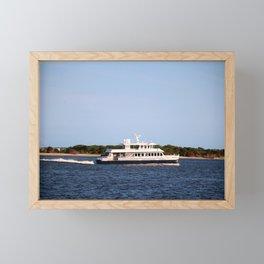 Ferry To The Island Framed Mini Art Print