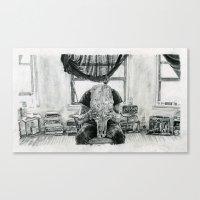 inner demons Canvas Prints featuring Inner Demons by Art & Ink