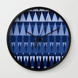 A Forest Pattern in Sea Blues Wall Clock