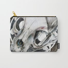 Cat skull at the woods Carry-All Pouch