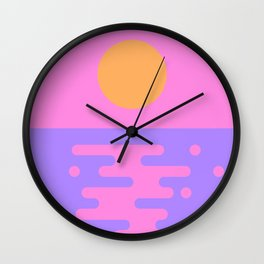 Paradise Sunset Wall Clock