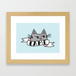 Unimpressed Framed Art Print