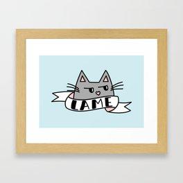 Unimpressed Framed Art Print