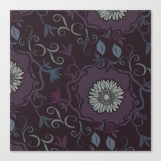 Purple branches Canvas Print