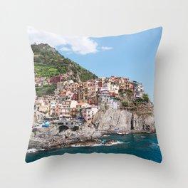 Cinque Terre | Italy City Travel Landscape Coastal Photography Throw Pillow