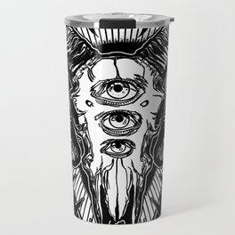 Ram Skull Monochrome Travel Mug