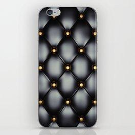 Black upholstery pattern iPhone Skin