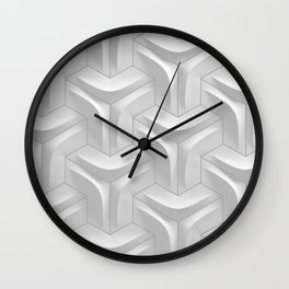hexagonal tile closeup Wall Clock