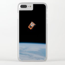 Space Doodle Clear iPhone Case