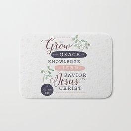 """Grow in Grace"" Bible Verse Print Bath Mat"