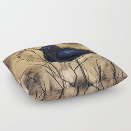 Just like those Bluebirds, I'll be Free Floor Pillow